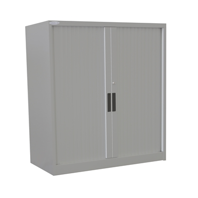 Image for STEELCO TAMBOUR DOOR CABINET 2 SHELVES 1015 X 1200 X 463MM SILVER GREY from Pirie Office National