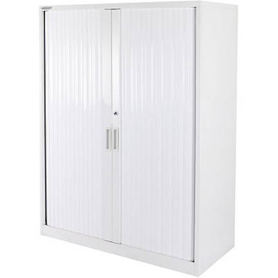 Image for STEELCO TAMBOUR DOOR CABINET 3 SHELVES 1200 X 1200 X 463MM SILVER GREY from Pirie Office National