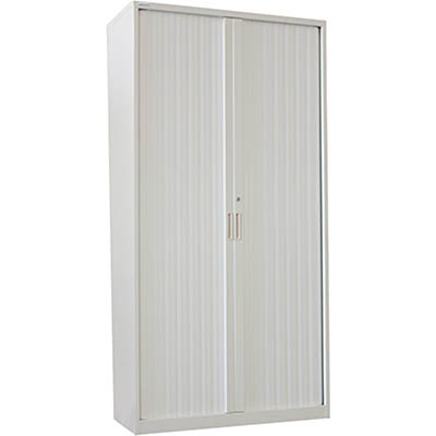 Image for STEELCO TAMBOUR DOOR CABINET 5 SHELVES 2000 X 1200 X 463MM SILVER GREY from Pirie Office National