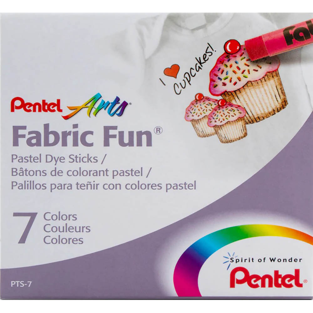 Image for PENTEL ARTS FABRIC FUN PASTEL DYE STICKS ASSORTED COLOURS PACK 7 from Office National Perth CBD