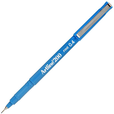 Image for ARTLINE 200 FINELINER PEN 0.4MM BRIGHT LIGHT BLUE from Page 5 Office National