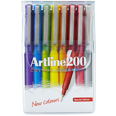 Image for ARTLINE 200 FINELINER PEN 0.4MM BRIGHT ASSORTED PACK 8 from Page 5 Office National