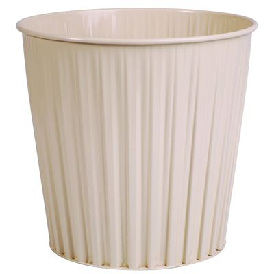 Image for ESSELTE ELEMENTS FLUTELINE METAL WASTE BIN 15 LITRE BEIGE from OFFICE NATIONAL CANNING VALE, JOONDALUP & OFFICE TOOLS OPD