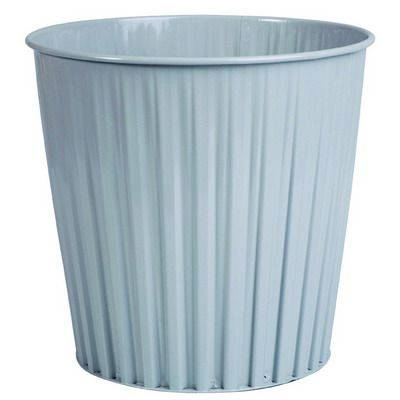Image for ESSELTE ELEMENTS FLUTELINE METAL WASTE BIN 15 LITRE LIGHT GREY from Ezi Office National Tweed