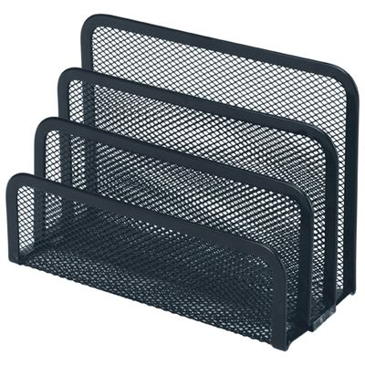 Image for ESSELTE MOULDED MESH VERTICAL ORGANISER FILE SORTER BLACK from Office National Limestone Coast