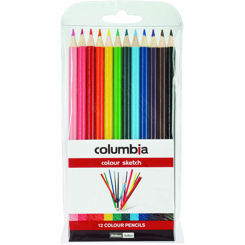 Image for COLUMBIA COLOURSKETCH FULL LENGTH PENCIL ASSORTED WALLET 12 from Wetherill Park / Smithfield Office National