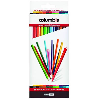 Image for COLUMBIA COLOURSKETCH TRIANGULAR PENCIL ASSORTED PACK 24 from Wetherill Park / Smithfield Office National