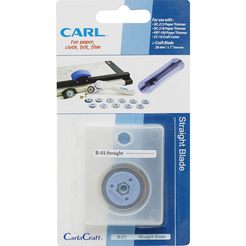 Image for CARL B01 REPLACEMENT STRAIGHT TRIMMER BLADE from OFFICE NATIONAL CANNING VALE, JOONDALUP & OFFICE TOOLS OPD