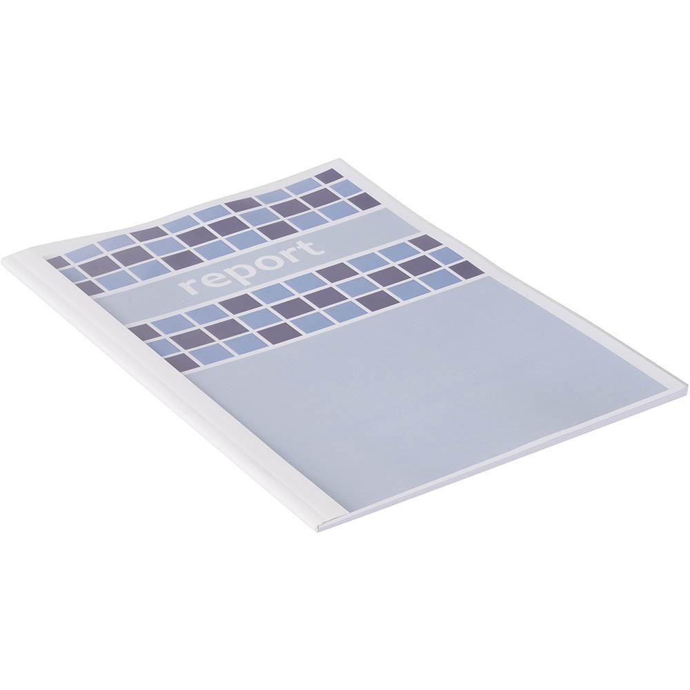 Image for GBC THERMAL BINDING COVER 3.0MM A4 WHITE BACK / CLEAR FRONT PACK 100 from City Stationery Office National