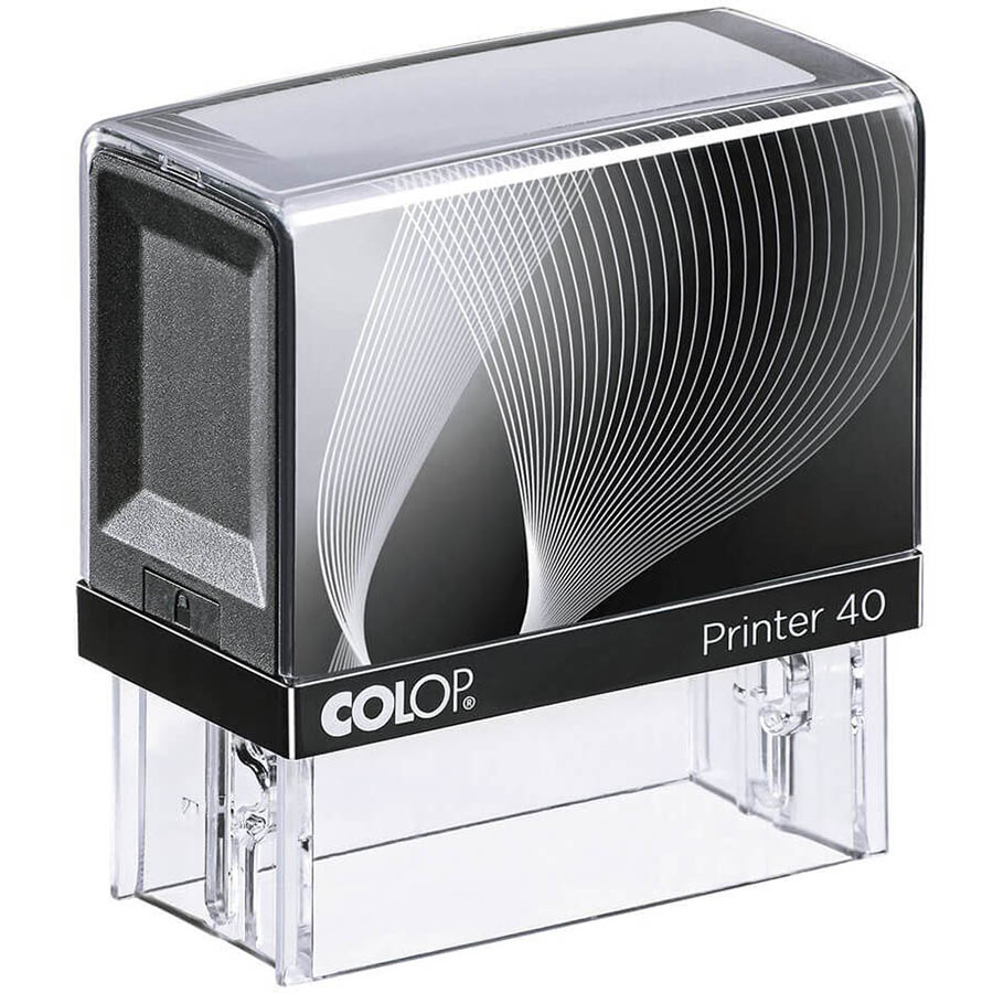 Image for COLOP P40 PRINTER SELF-INKING CUSTOM MADE STAMP 59 X 23MM from City Stationery Office National