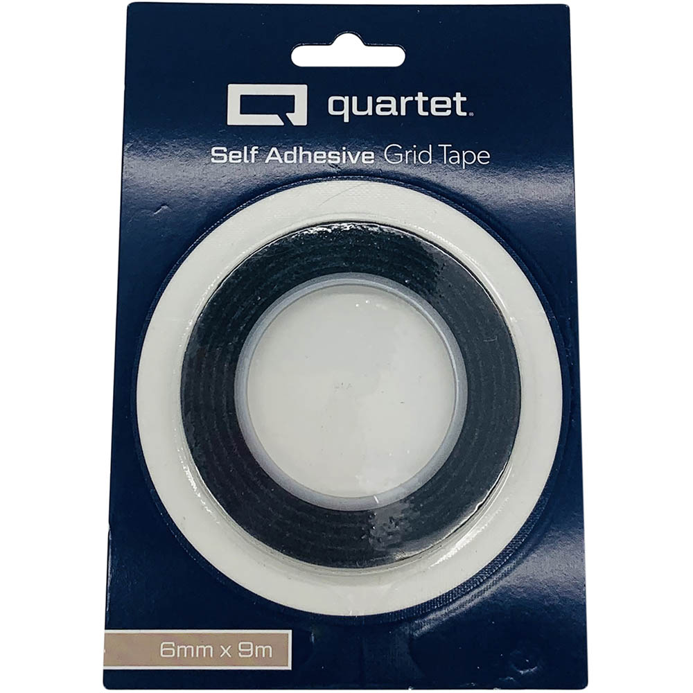 Image for QUARTET GRID TAPE 6MM X 9M BLACK from Page 5 Office National