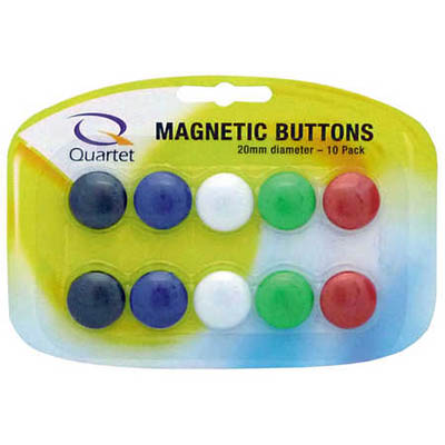 Image for QUARTET MAGNETIC BUTTONS 20MM ASSORTED PACK 10 from Page 5 Office National