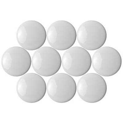 Image for QUARTET MAGNETIC BUTTONS 20MM WHITE PACK 10 from Page 5 Office National