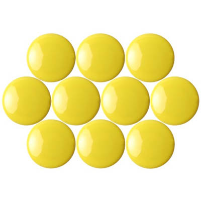 Image for QUARTET MAGNETIC BUTTONS 20MM YELLOW PACK 10 from Page 5 Office National