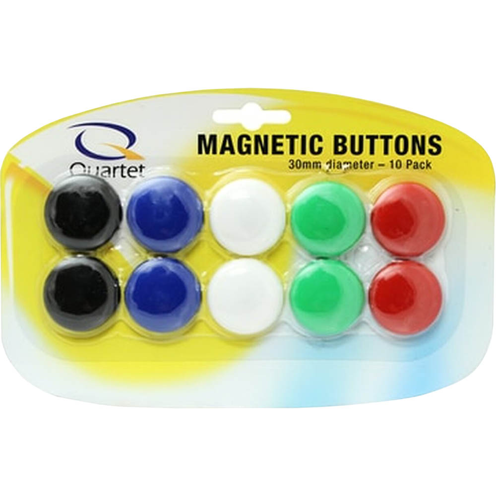 Image for QUARTET MAGNETIC BUTTONS 30MM ASSORTED 10 PACK from Page 5 Office National