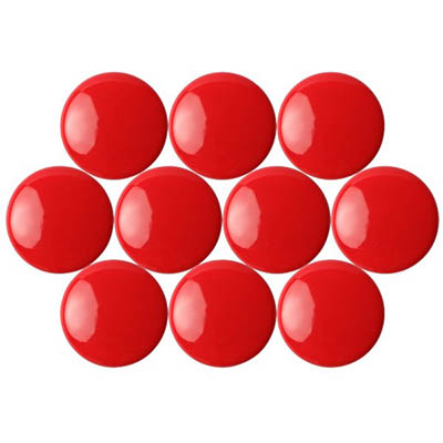 Image for QUARTET MAGNETIC BUTTONS 30MM RED PACK 10 from Page 5 Office National