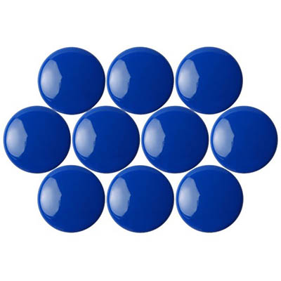 Image for QUARTET MAGNETIC BUTTONS 30MM BLUE PACK 10 from Page 5 Office National