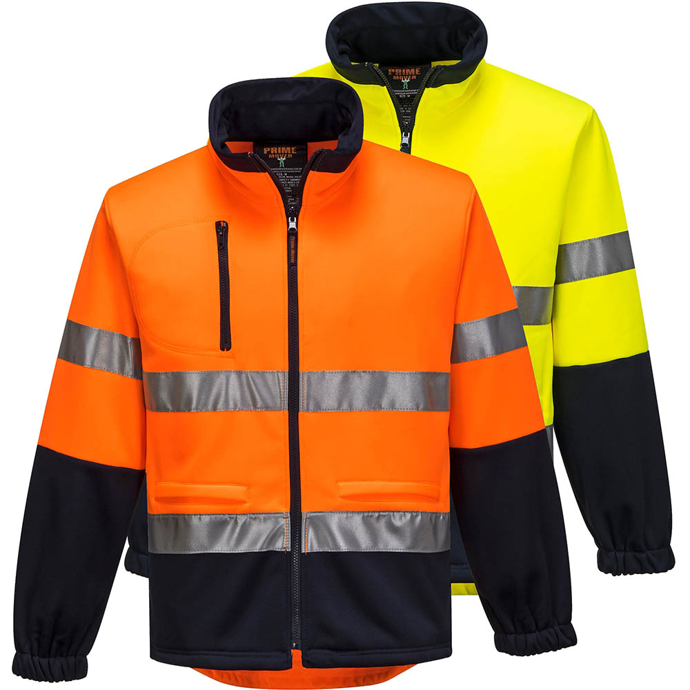 Image for PRIME MOVER MA315 HI VIS FLEECY JACKET WITH TAPE WATER REPELLANT 2 TONE from Aztec Office National