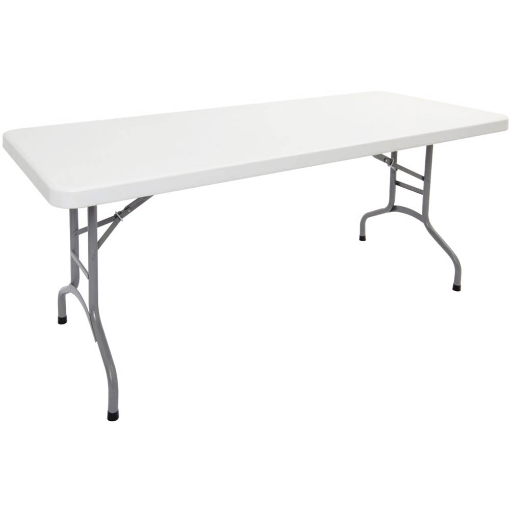 Image for RAPIDLINE FOLDING TABLE POLY 1800 X 750 X 720MM OFF WHITE from City Stationery Office National
