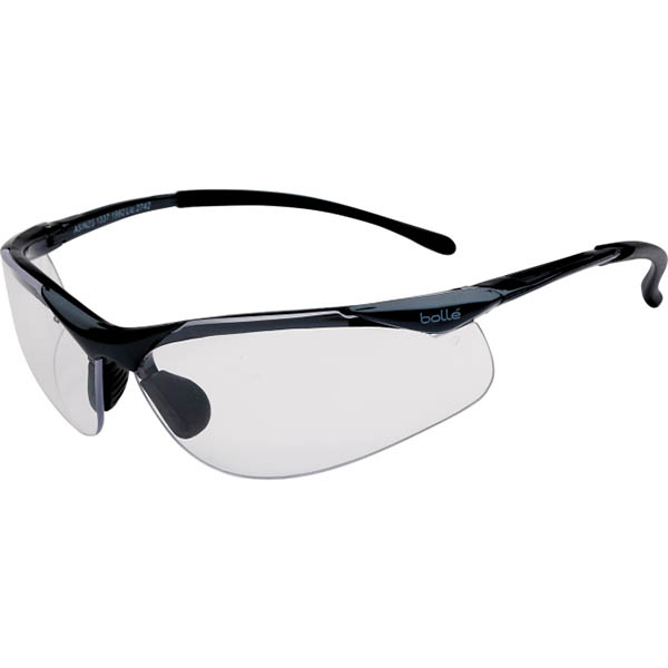 Image for BOLLE SAFETY CONTOUR SAFETY GLASSES CLEAR LENS from Ezi Office Supplies Gold Coast