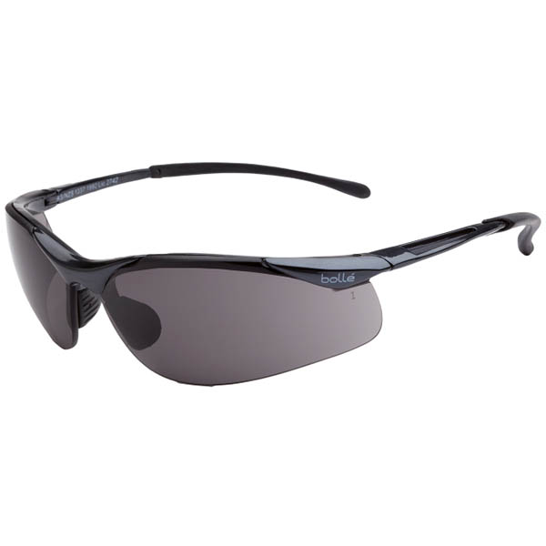 Image for BOLLE SAFETY CONTOUR SFAETY GLASSES SMOKE LENS from Ezi Office Supplies Gold Coast