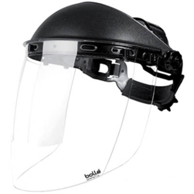 Image for BOLLE SAFETY SPHERE FACE SHIELD WITH HEAD GEAR AND VISOR from Office National Limestone Coast