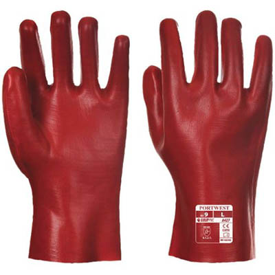 Image for PORTWEST A427 PVC GAUNTLET RED 270MM XL from OFFICE NATIONAL CANNING VALE, JOONDALUP & OFFICE TOOLS OPD