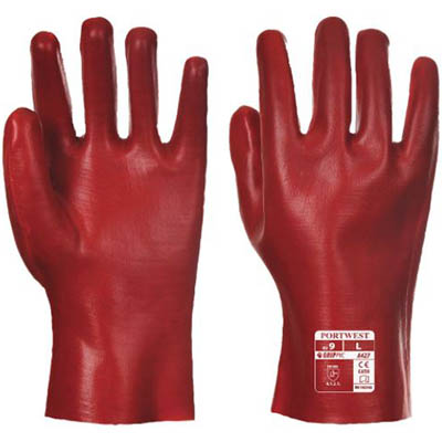 Image for PORTWEST A445 PVC GAUNTLET RED 450MM XL from OFFICE NATIONAL CANNING VALE, JOONDALUP & OFFICE TOOLS OPD