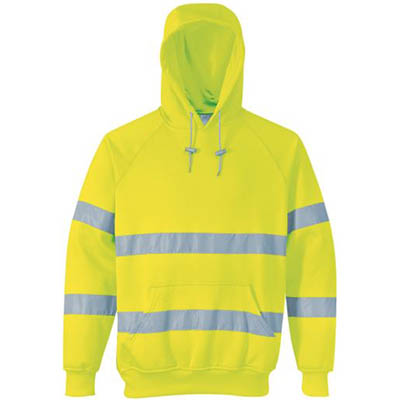 Image for PORTWEST B304 FLEECE HOODIE WITH TAPE from Coleman's Office National