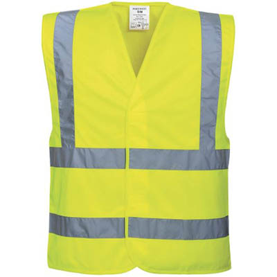Image for PORTWEST C470 HI-VIS TWO BAND AND BRACE VEST from OFFICE NATIONAL CANNING VALE, JOONDALUP & OFFICE TOOLS OPD