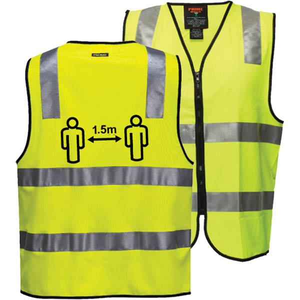 Image for PRIME MOVER CV102 SOCIAL DISTANCING VEST DAY/NIGHT YELLOW XL from OFFICE NATIONAL CANNING VALE, JOONDALUP & OFFICE TOOLS OPD