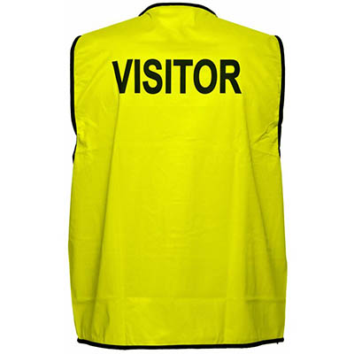 Image for PRIME MOVER MV120 HI VIS VEST PRINTED VISITOR DAY USE ONLY from OFFICE NATIONAL CANNING VALE, JOONDALUP & OFFICE TOOLS OPD