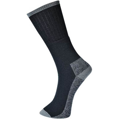 Image for PORTWEST SK33 WORK SOCK BLACK PACK 3 from SBA Office National