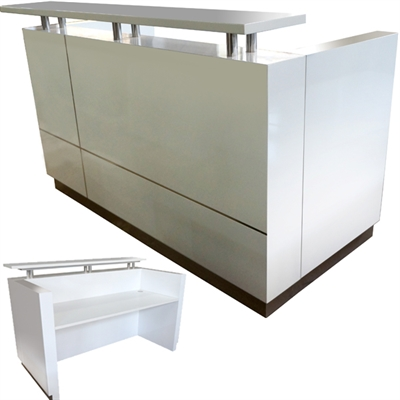 Image for HUGO RECEPTION COUNTER 1800 X 950 X 1150MM WHITE from Office National Hobart