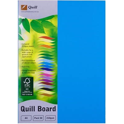 Image for QUILL XL MULTIBOARD 210GSM A4 MARINE BLUE PACK 50 from Express Office National