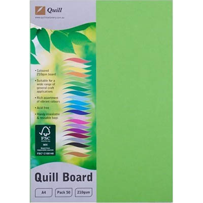 Image for QUILL XL MULTIBOARD 210GSM A4 LIME PACK 50 from Express Office National