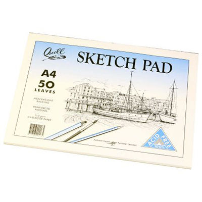 Image for QUILL SKETCH PAD 110GSM A4 210 X 297MM 100 PAGES WHITE from Wetherill Park / Smithfield Office National