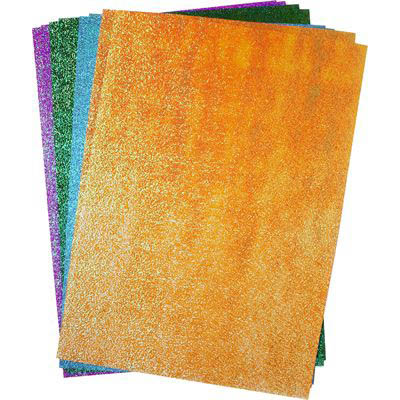 Image for RAINBOW GLITTER PAPER A4 ASSORTED PACK 50 from Our Town & Country Office National