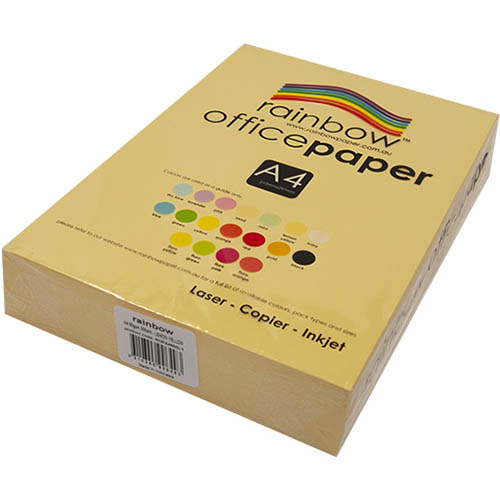 Image for RAINBOW COLOURED A4 COPY PAPER 80GSM 500 SHEETS LEMON YELLOW from Darwin Business Machines Office National