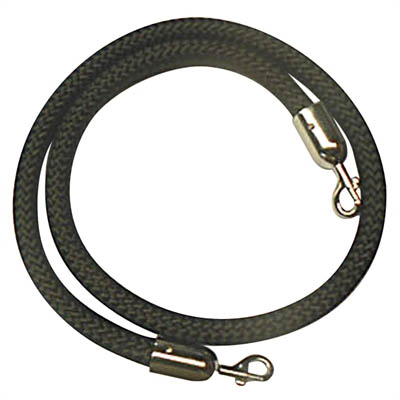 Image for Q NYLON ROPE 25MM BRASS SNAP ENDS 1.5M BLACK from Ezi Office National Tweed