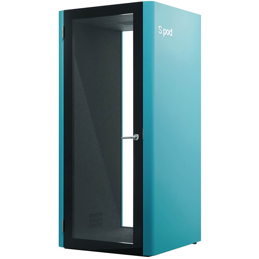 Image for S POD SINGLE PERSON OFFICE POD TURQUOISE from Axsel Office National