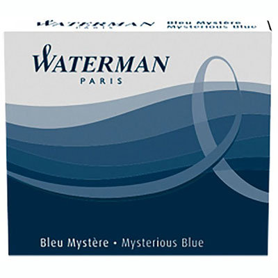 Image for WATERMAN FOUNTAIN PEN INK CARTRIDGE INSPIRED BLUE PACK 8 from Office National Perth CBD