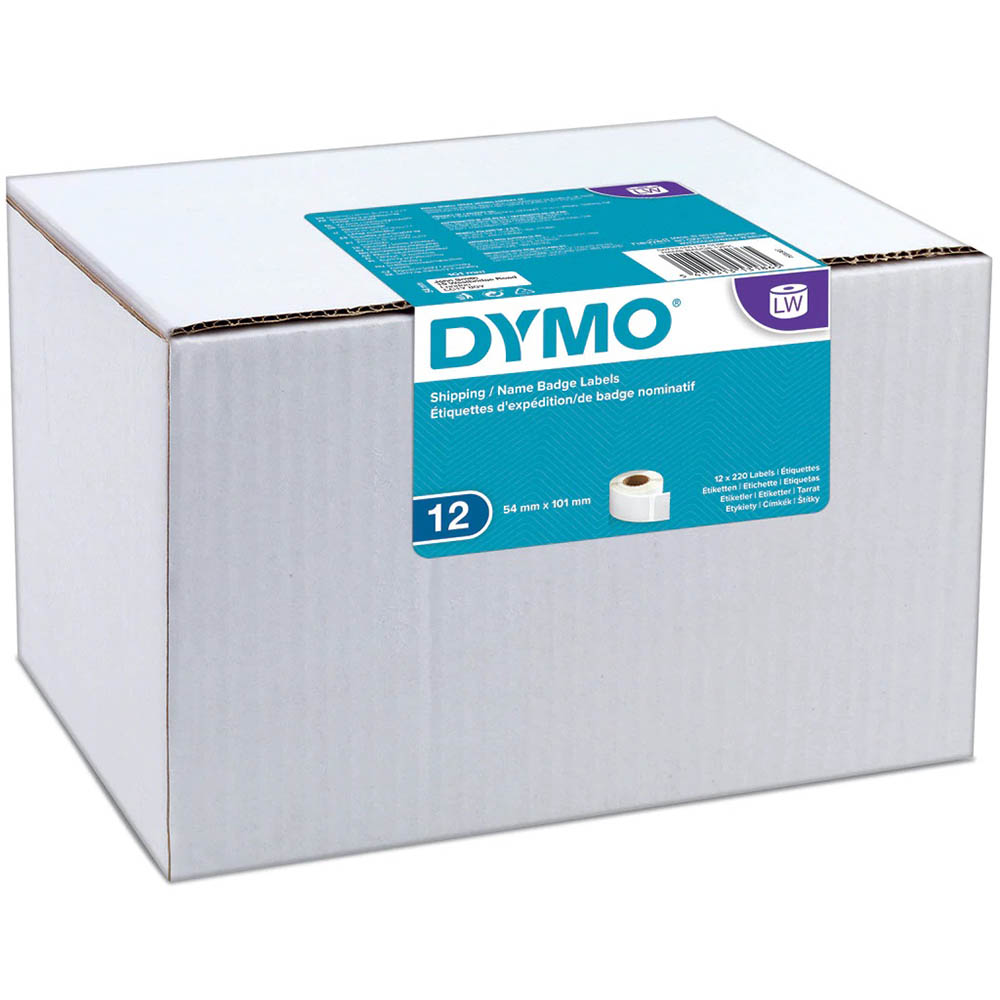 Image for DYMO 0722420 LW ADDRESS LABELS 54 X 101MM WHITE ROLL 220 BOX 12 from Pirie Office National