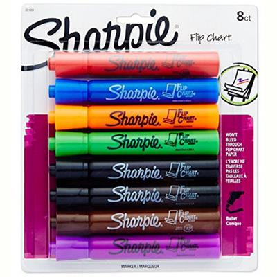Image for SHARPIE FLIP CHART MARKER BULLET BROAD 3.0MM ASSORTED PACK 8 from Office National Perth CBD