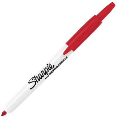 Image for SHARPIE RETRACTABLE PERMANENT MARKER BULLET FINE 1.0MM RED from Mackay Business Machines (MBM)