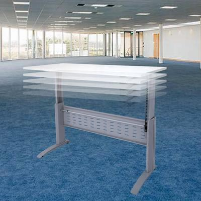 Image for RAPID SPAN ELECTRIC HEIGHT ADJUSTABLE OPEN DESK 1500 X 700MM NATURAL WHITE/SILVER from Copylink Office National