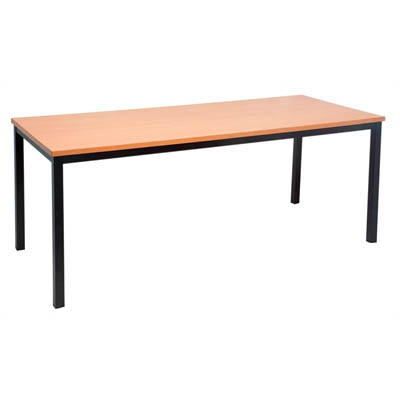 Image for RAPIDLINE STEEL FRAME TABLE 1200 X 600MM BEECH from City Stationery Office National