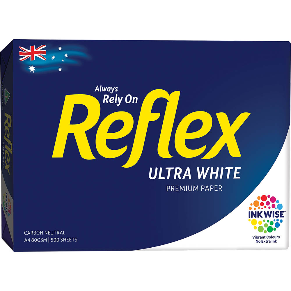 Image for REFLEX A4 ULTRA WHITE COPY PAPER 80GSM WHITE PACK 500 SHEETS from Aztec Office National Melbourne