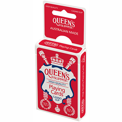 Image for QUEENS SLIPPER PLAYING CARDS 52S SINGLES PACK from Office National Capalaba