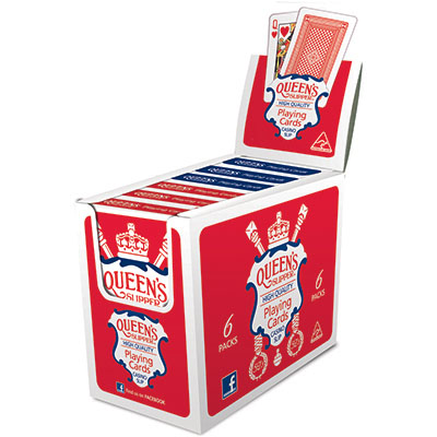 Image for QUEENS SLIPPER PLAYING CARDS 52S SINGLES PACK BOX 12 from Ezi Office Supplies Gold Coast